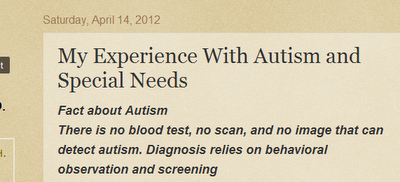 DH Starr – My experience with Autism and Special Needs