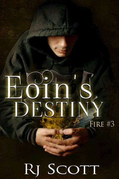 Eoin's Destiny - Fire 3 - RJ Scott MM romance author paranormal romance