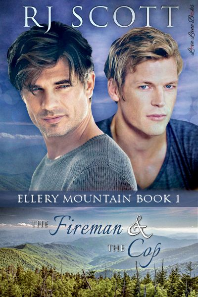 Fireman cop Ellery Mountain Rj Scott MM romance