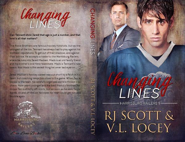 Changing Lines, RJ Scott, Harrisburg Railers, MM Romance, Hockey Romance, V.L. Locey