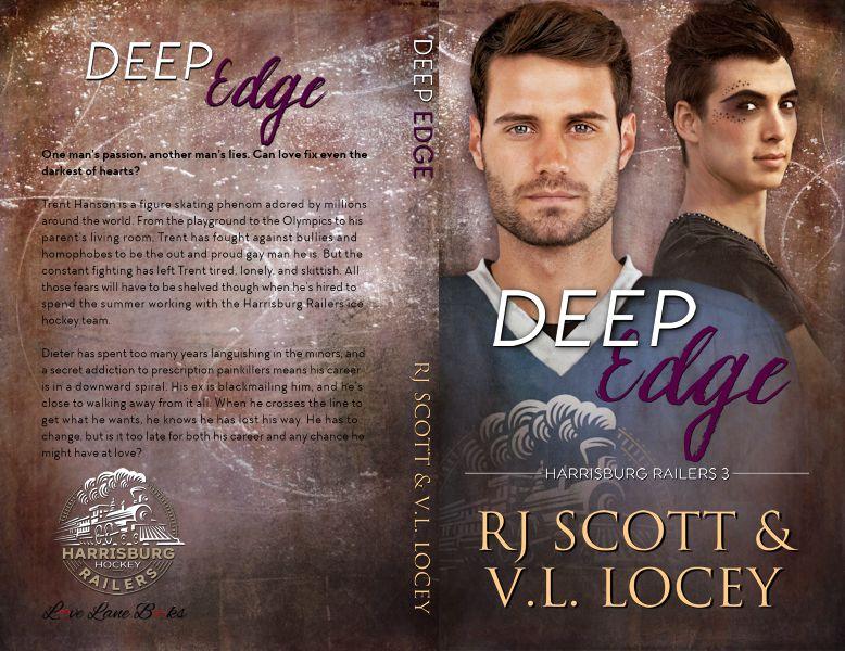 RJ Scott, Deep Edge, Harrisburg Railers, Hockey Romance, MM Romance