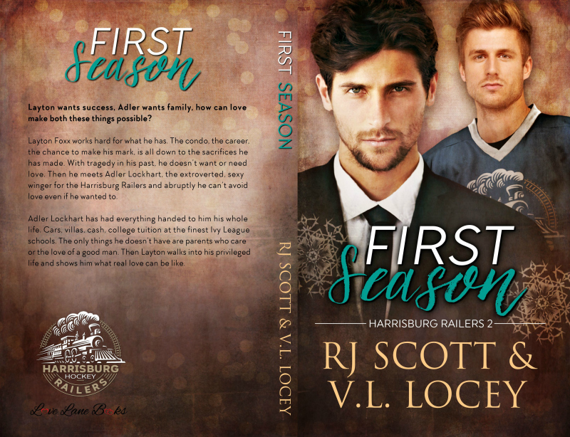 First Season, Harrisburg Railers, Hockey Romance, MM Romance, RJ Scott