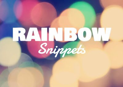 #RainbowSnippets – December 30