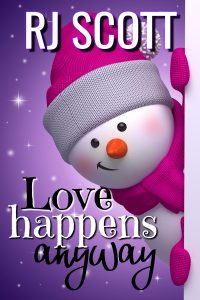 Cover Art for Love Happens Anyway - a Christmas story from RJ Scott