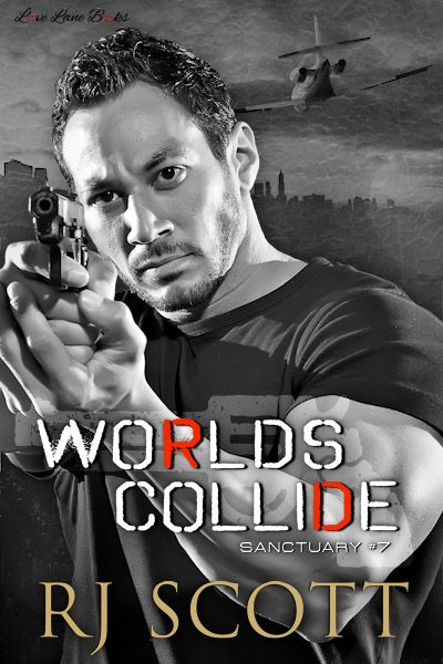 Sanctuary Worlds Collide MM romance Action Adventure RJ Scott