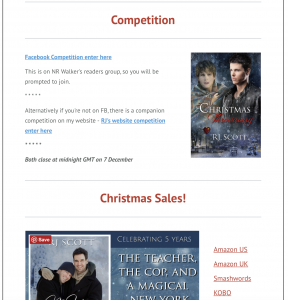 MM Romance RJ Scott Newsletter New Releases Competitions