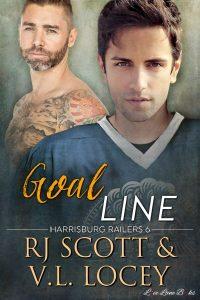 Goal Line, Harrisburg Railers, Gay Romance, MM Romance, RJ Scott, V.L. Locey