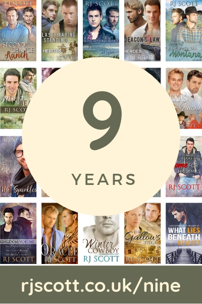 Nine Years Published - RJ Scott USA TODAY Bestselling Author of Gay MM Romance