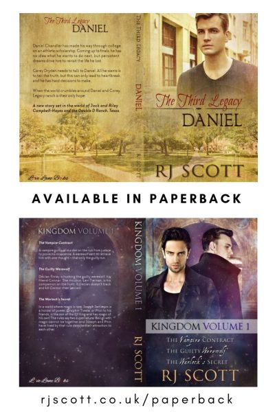 Paperbacks from USA Today Bestselling MM Romance Author RJ Scott