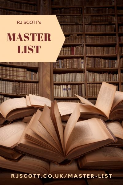Master List of all books by USA Today bestselling MM Romance Author, RJ Scott