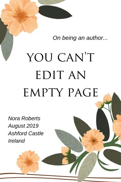 Quote from Nora Roberts, Galway, Ireland, August 2019, RJ Scott MM Romance Author