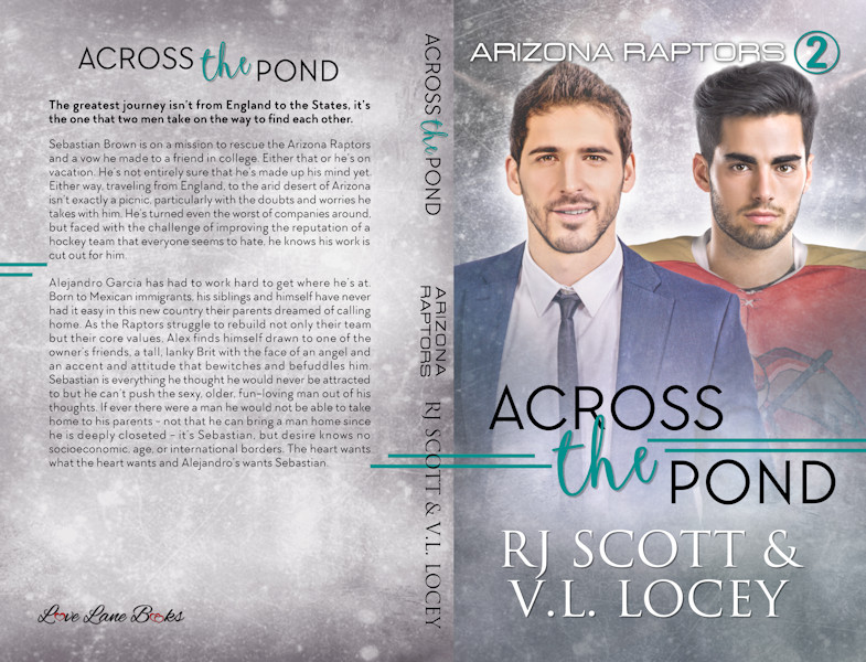 Across The Pond, MM Romance, Hockey Romance, RJ Scott, V.L. Locey