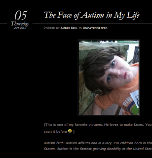 Amber Kell and the Face of Autism in her life…