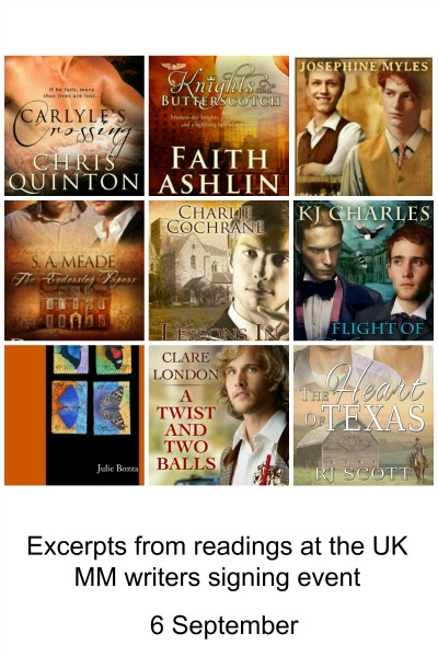 Excerpts from 8 fabulous UK authors… and me!
