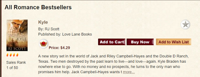 Kyle is a Bestseller at All Romance