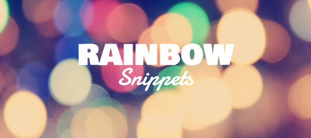 #RainbowSnippets – September 3