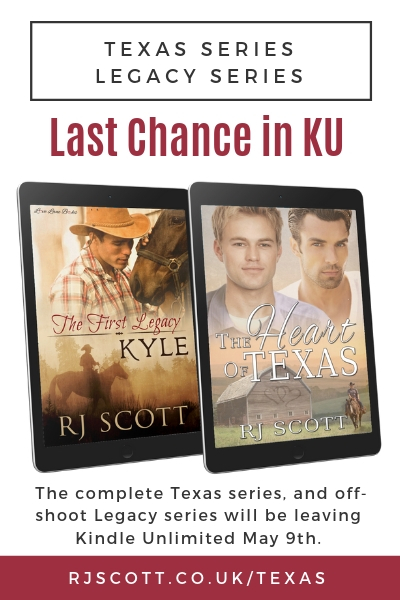 Last Chance to get Texas & Legacy series in Kindle Unlimited