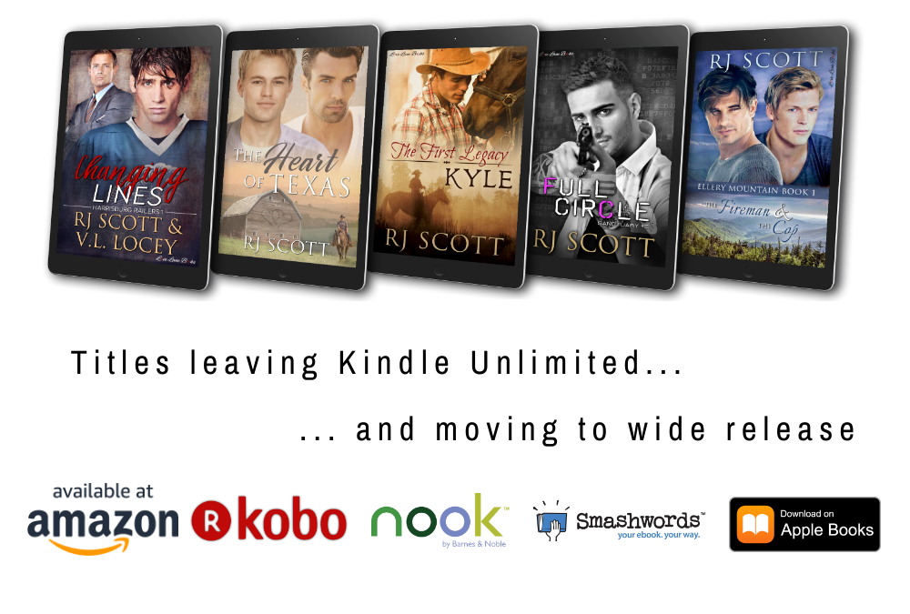A heads up on RJ Scott books leaving Kindle Unlimited