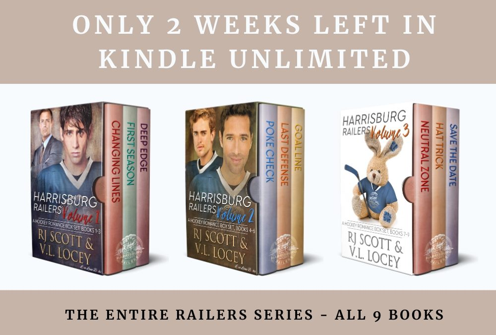 Two more weeks in Kindle Unlimited for Railers MM Hockey Romance