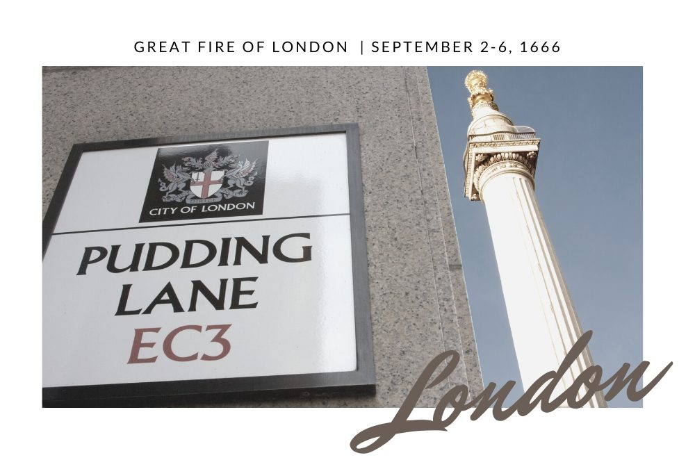 The Great Fire of London 2nd to 6th September 1666 – RJ Scott